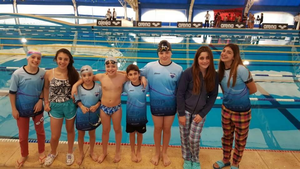 Los nadadores de Atlantis que están representando a la ciudad. (Foto: Facebook Atlantis)