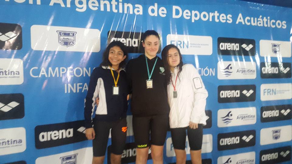 Lucía Gauna en un nuevo podio.