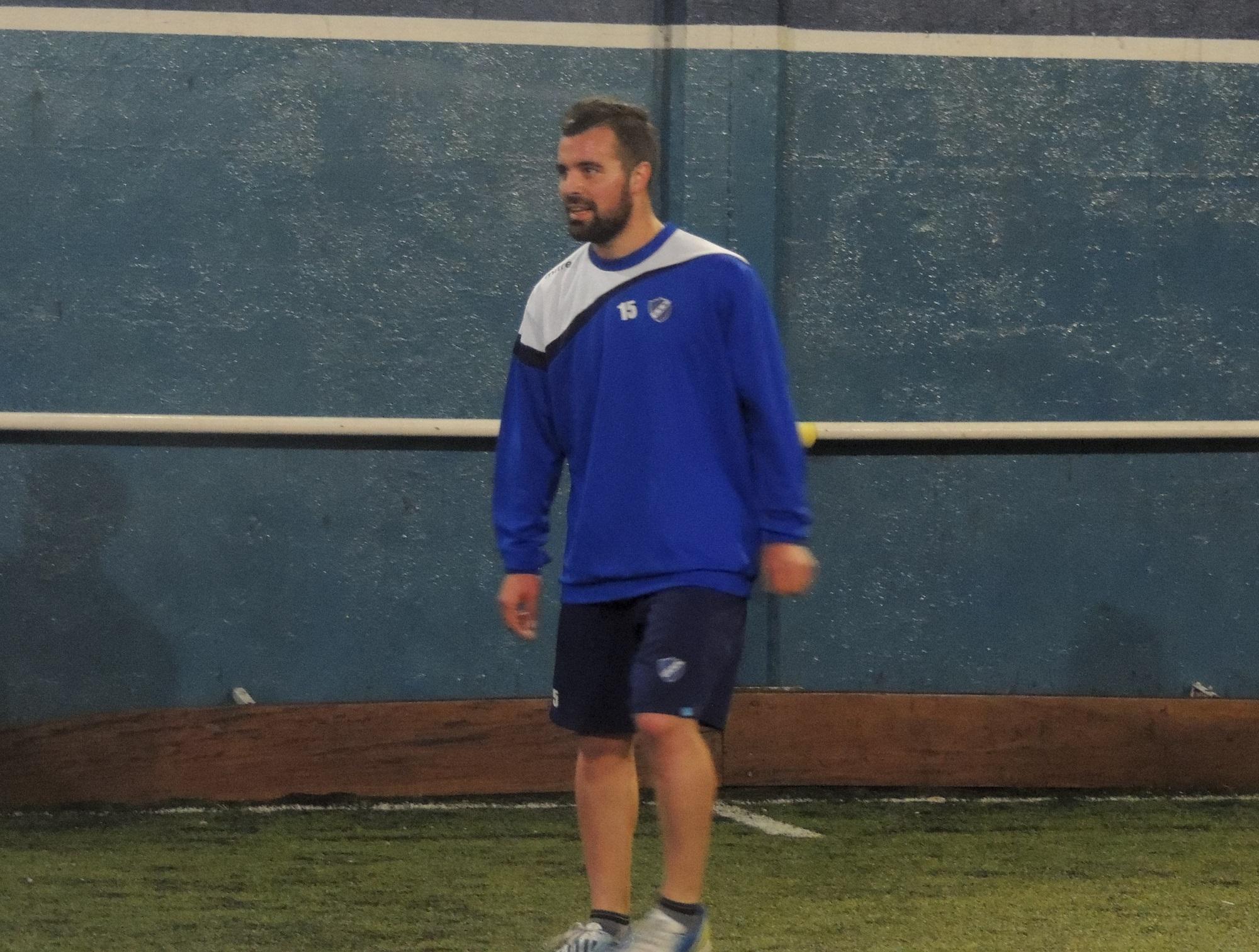 Nicolás Fassino en su primer entrenamiento con Alvarado. (Foto: Prensa Alvarado)