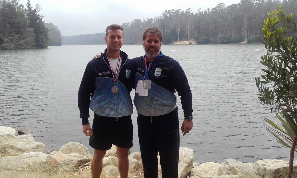 Brian Rosso y Román Palet todavía no pueden entrenar con el bote olímpico.