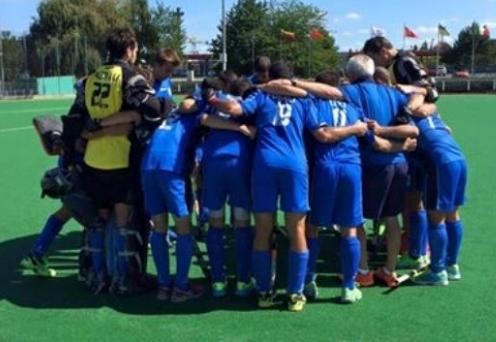 El equipo italiano antes de comenzar el partido.