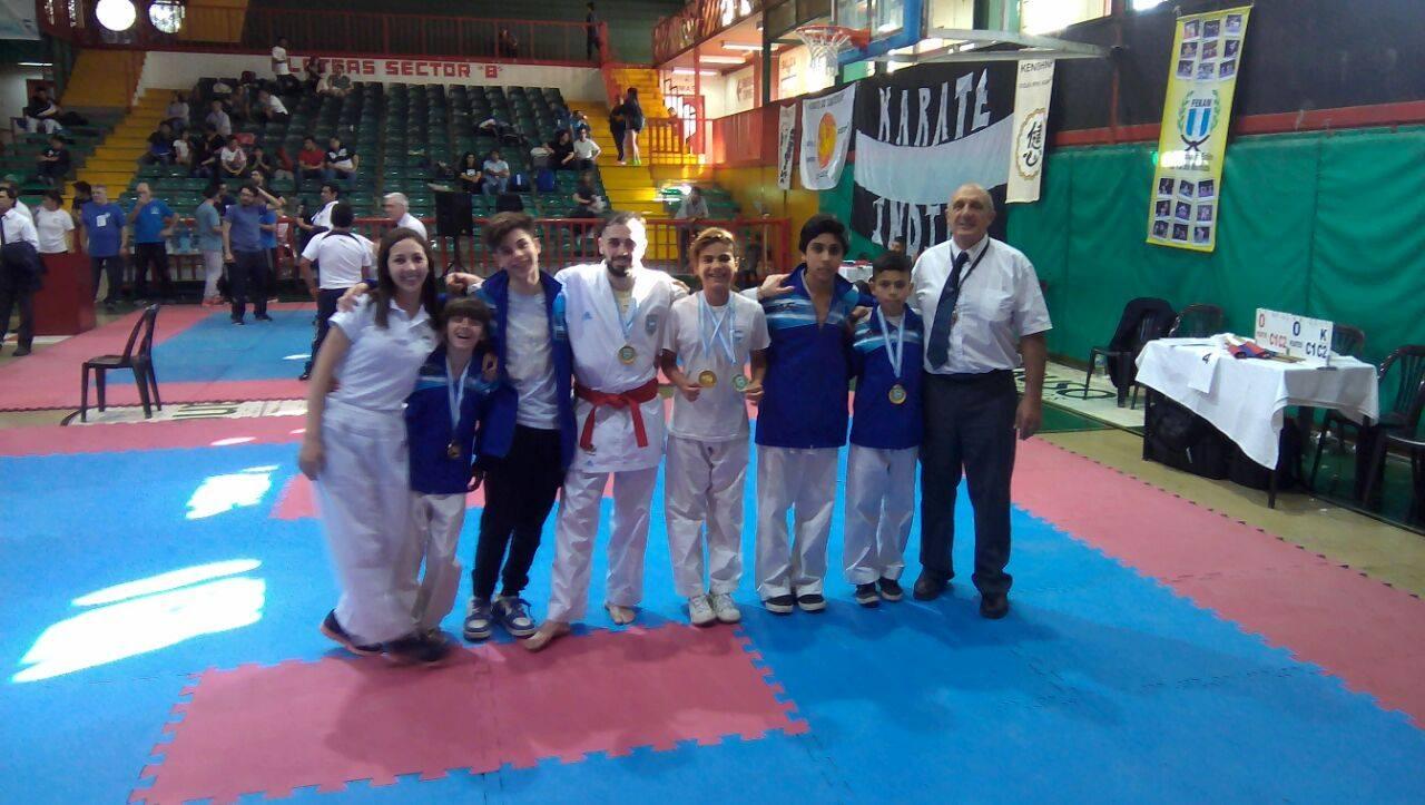 Los oros locales en el Argentino de Karate.