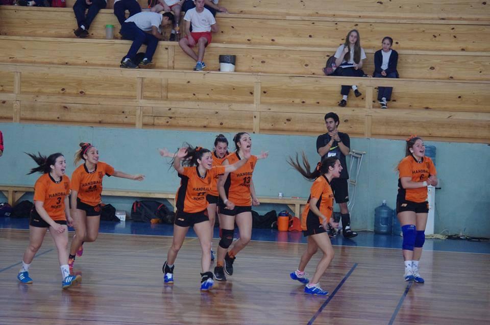 Handball Norte en plena celebración. (Foto: CAH)