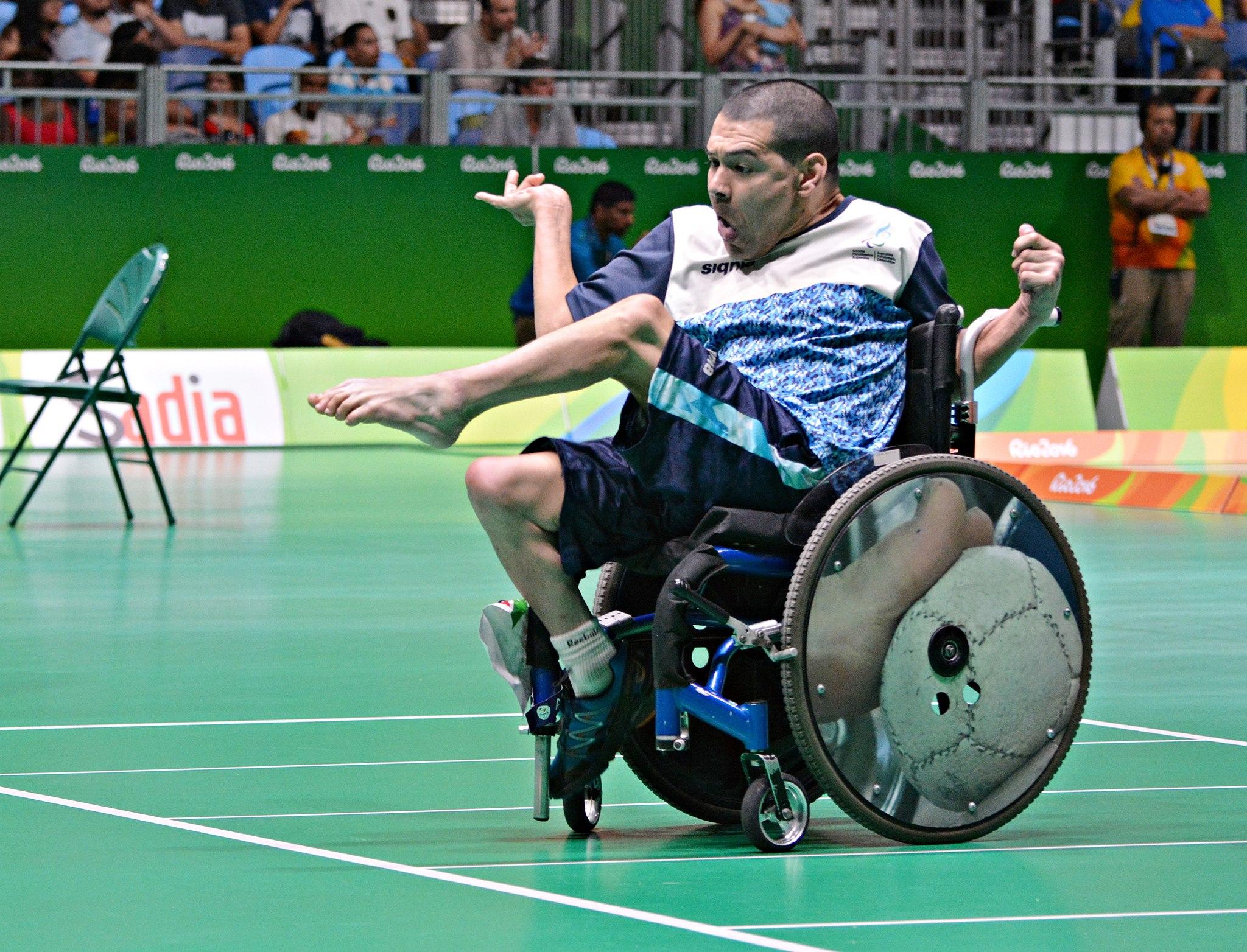 Mauricio Ibarbure durante la competencia de hoy.