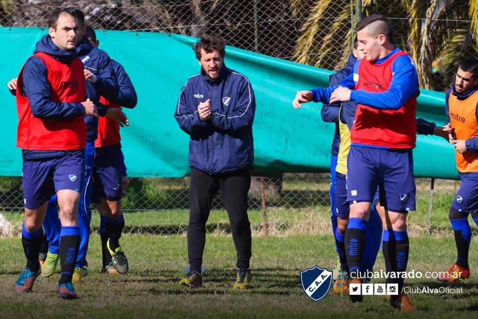 Alvarado pudo entrenarse bien un par de días antes del compromiso en Pico. (Foto: Florencia Arroyos - Club Alvarado)