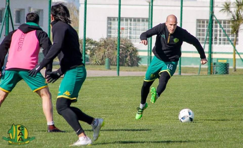 Cristian Llama volvió a entrenar. (Foto: Sergio Biale - Club Aldosivi)