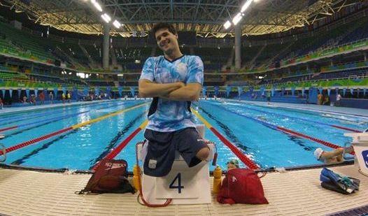 Matías De Andrade está en la final de los 100 metros espalda.