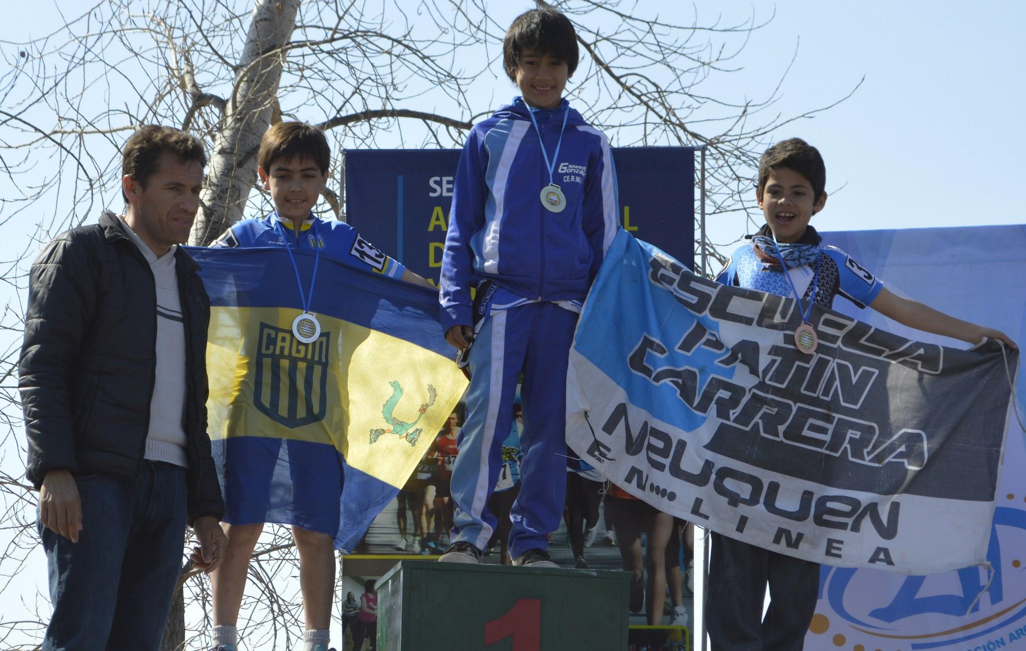 Uno de los podios en Pocito. (Foto: Municipalidad de Pocito)