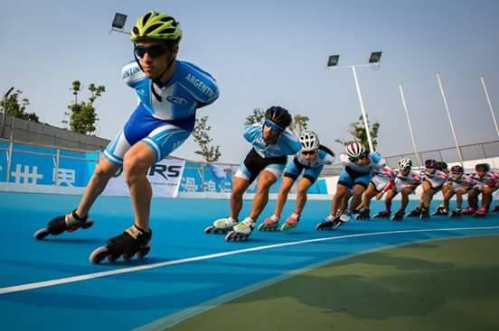 El equipo argentino rodando en Nanjing. (Foto: Rafael Leyton)