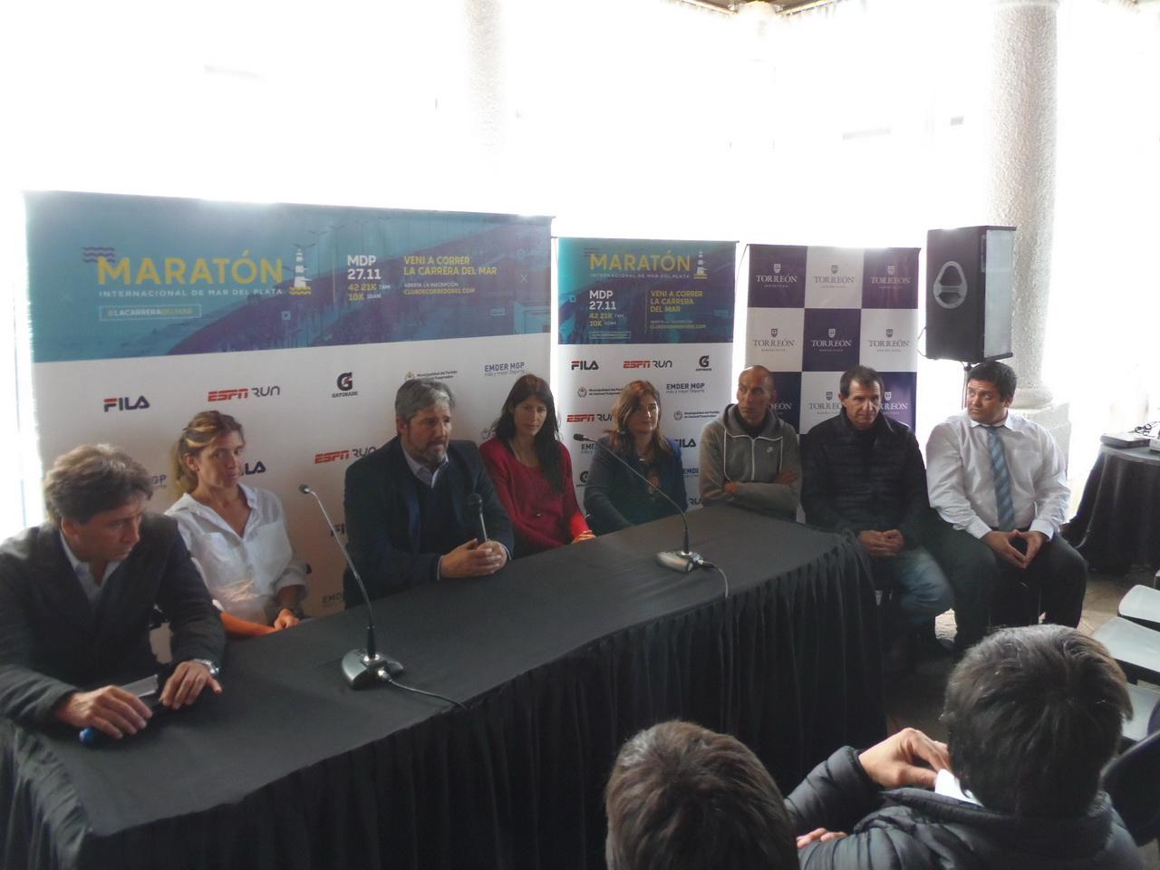 Esta tarde se presentó el Maratón Internacional de Mar del Plata.