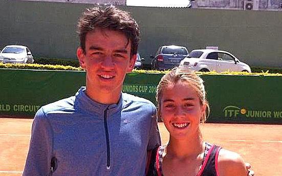 Paula Barañano y Juan Pablo Grassi Mazzuchi luego de la victoria.