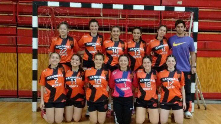 El equipo de Handball Norte que pasó a cuartos de final.