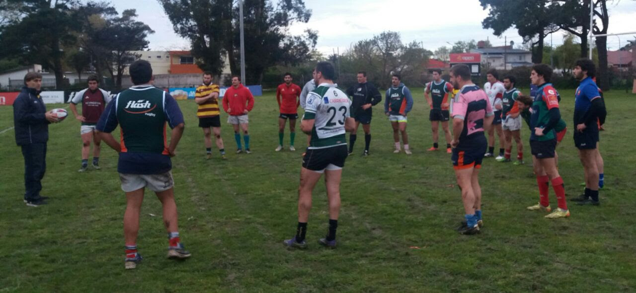La Unión de Rugby de Mar del Plata tuvo ayer su primer entrenamiento. (Foto: Prensa URMDP)