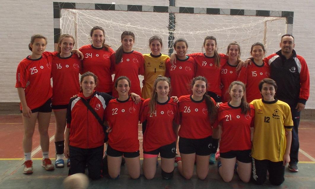 El equipo femenino junior de Asabal que está en semifinales.