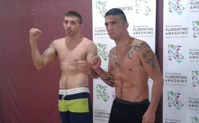 Cacedo y Acosta en el pesaje. (Foto: Facebook)