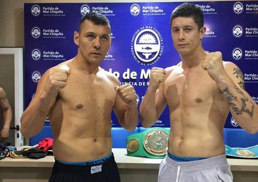 Bolonti y Balmaceda luego del pesaje oficial.