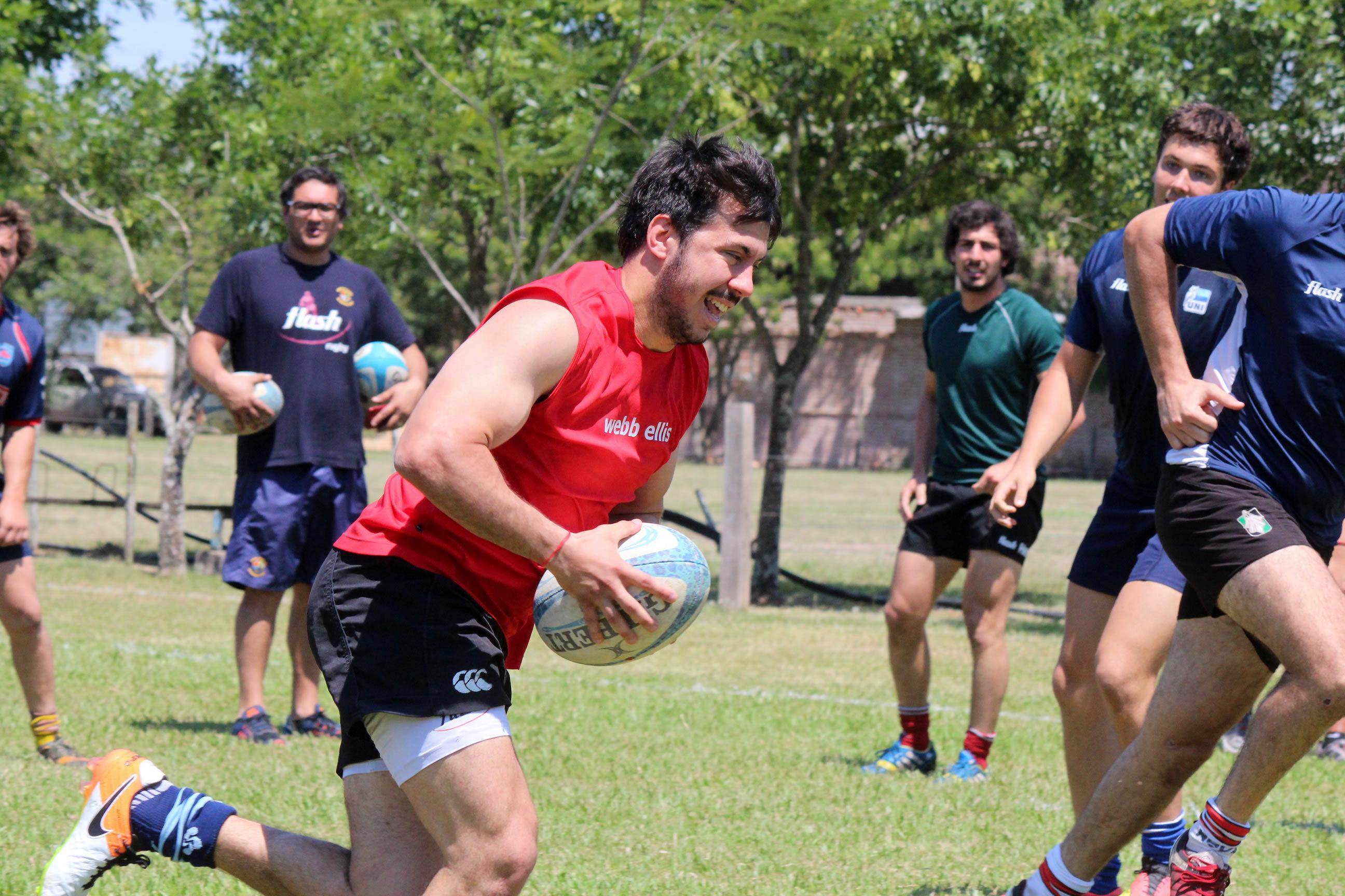 Emanuel Contino durante el entrenamiento en Chaco.  (Foto: Prensa URMDP)