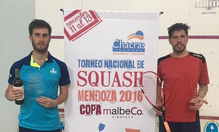 Leandro Romiglio ganador del torneo en Mendoza.