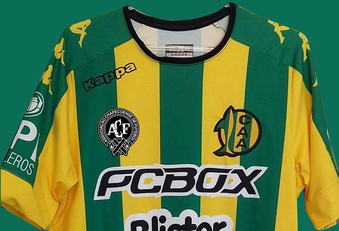 La camiseta de Aldosivi con el logo de Chapecoense. (Foto: Prensa Aldosivi)
